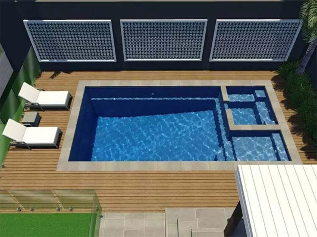 7.2m Brooklyn Slimline Pool